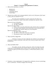 CPA 9 Formation and Requirements of Contracts.docx