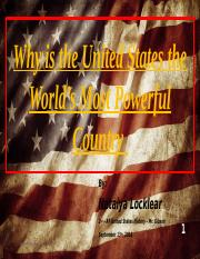 Why is the United States the worlds most powerful country