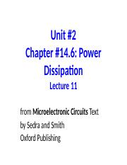 Unit 2 Lecture 11 Power Dissipation.ppt
