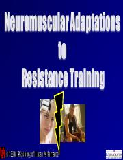 KIN 3306 Lecture 5- Resistance Training.ppt