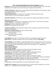 study guide social psychology 3