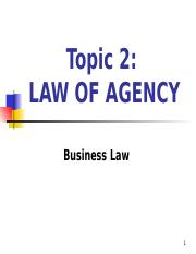 10. law of agency