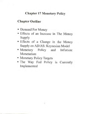 Ch 17 Notes (ECON E-202; Introduction to Macroeconomics; Wenyi Shen)