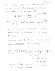 PHYS 458 Gaussian Distribution Notes