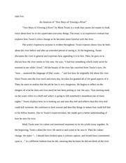 "An Analysis of ""Two Ways of Viewing a River""- Essay"