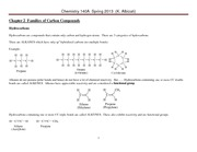 Chem 140A Lecture Notes Spring 2013 Ch 2 Families of Carbon Compounds