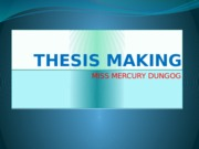 THESIS-MAKING