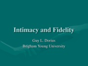 123 Intimacy and Fidelity