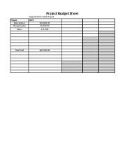 Data Communication and Project Planning Spreadsheet
