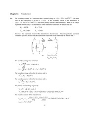 Chapter 3 Homework Solutions on Trasnformers