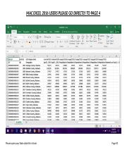 Excel Exercise 1 Instructions