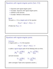 Equations with regular-singular points