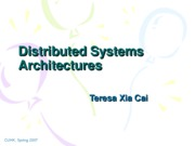 Lecuture 9 Distributed System Architecture