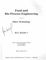 Food and BioProcess Engineering - Kessler - chapter 3