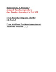 Homework-2 Assignment, Problem Statements and Solution Checkpoints