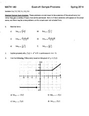 MATH 180 Sample Test 1