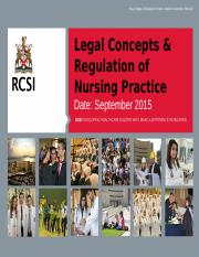 N403A.12 Legal Concepts  Regulations of Nursing.pptx