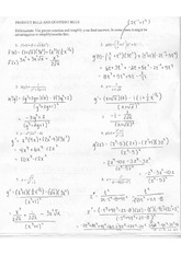 Worksheets Product Rule Worksheet derivative worksheet 2 homework product rule and quotient 4 pages key