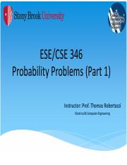Networking - Probability Problems - (Part I) - NOTES