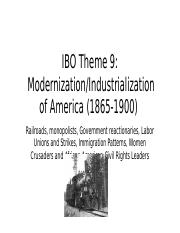 IBO Theme 9 Industrialization.pptx