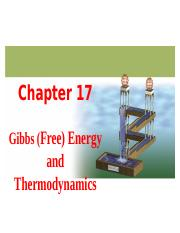 Chapter 17 Thermodynamics
