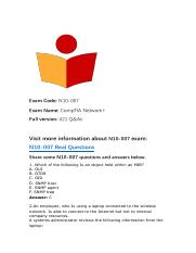 Updated CompTIA Network+ N10-007 Questions and Answers.pdf