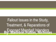 Power Point  Fallout Issues in the Study, Treatment,