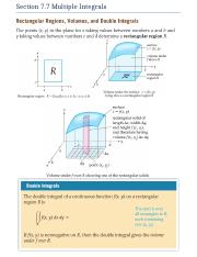 Section 7.7 Multiple Integrals