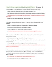 NCLEX EXAMINATION REVIEW QUESTIONS  Chapter 5