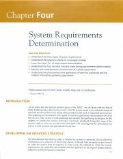 System Requirements Determination