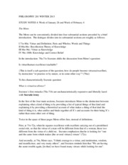 PHILOSOPHY 201 WINTER 2013 Study Notes 4