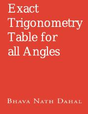 Exact Trigonometry Table for all Angles