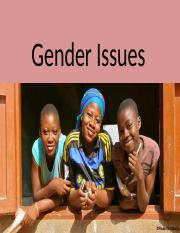 Gender issues updated-1