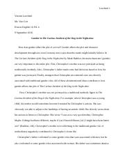 the curious incident of the dog analytic review essay lit 2 pages gender in the curious incident