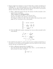 Diff. Equations Word Problems Class Notes