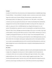 Alcon Case - Essay by Sufi8990 - antiessays.com