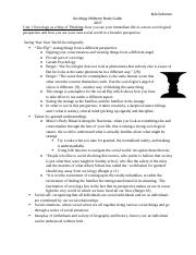 Sociology- midterm study guide