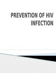 lecture 3 PREVENTION OF HIV INFECTION
