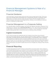 Financial Management Systems & Role of a Financial Manager.docx