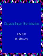 Disparate Impact Discrimination(1)