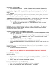 Intercultural Communication Notes on Chapters 3, 8, 10, and 18 (Speech Codes, Co Cultural Theory, Id