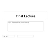 Final Lecture