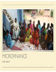 microcredit master thesis