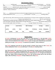 A Christmas Carol Stave 1 Summary.A Christmas Carol Cloze Summaries Lessons 5 9 13 16 17