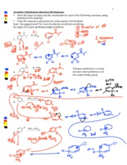 Aromatic Reactions Mechanism Products Design-Answers