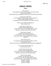 На этой странице вы можете скачать или прослушать песню «адель - hello».