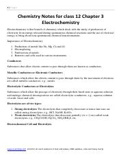 Chemistry Notes for class 12 Chapter 3 Electrochemistry .pdf