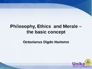 Ethics, The Basic Concept