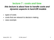 20-lecture 7-2010 Costs