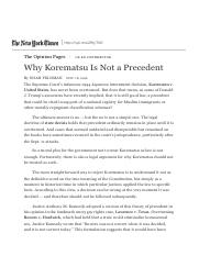 Why Korematsu Is Not a Precedent - The New York Times.pdf